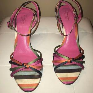 Coach multi color sandal